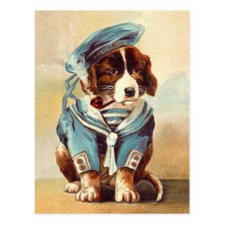 Vintagesjömanhund Vykort