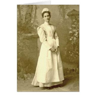 Vintagesjuksköterska Notecard OBS Kort