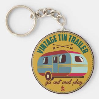 Vintagesläp/vintagecamparemuggar, gåvor, etc.! rund nyckelring