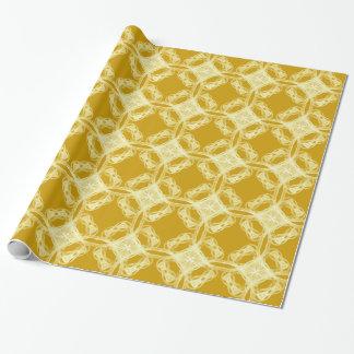 Vintagesnöre på guld- slående in papper presentpapper