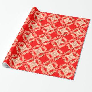 Vintagesnöre på rött slående in papper presentpapper