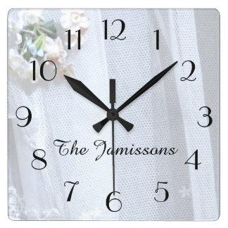 Vintagesnöre, tar tid på, personifierade fyrkantig klocka