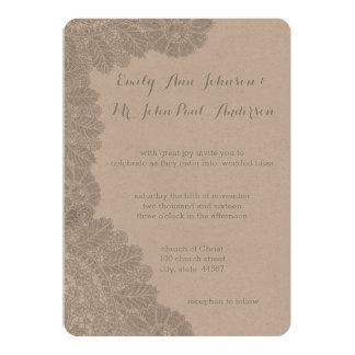 Vintagesnörebröllop spara datum 12,7 x 17,8 cm inbjudningskort
