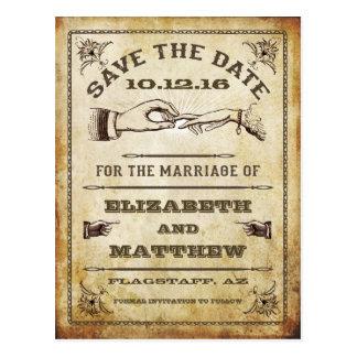 Vintagespara dateravykortet vykort