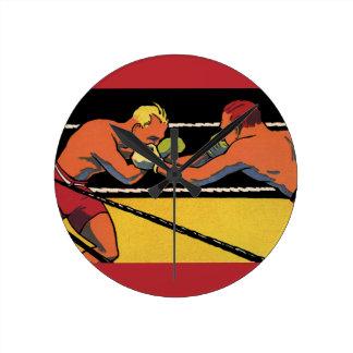 Vintagesportar som boxas, boxare som slåss i rund klocka