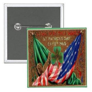 Vintagest patricks day 12 standard kanpp fyrkantig 5.1 cm