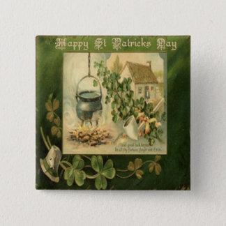 Vintagest patricks day 6 standard kanpp fyrkantig 5.1 cm