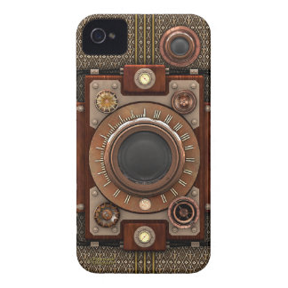 VintageSteampunk kamera #1D (De Luxe!) Case-Mate iPhone 4 Fodral