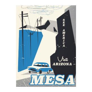 Vintagestil för Mesa Arizona reser affischen Canvastryck