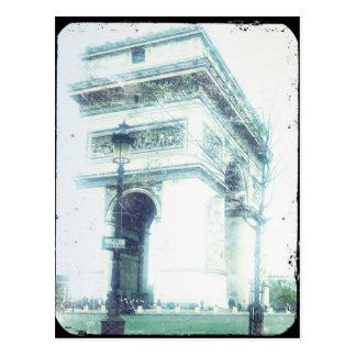 VintagestilParis vykort, Arcet de Triomphe Vykort