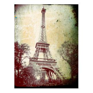 VintagestilParis vykort, det Eiffel torn Vykort
