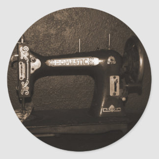 Vintagesymaskin Runt Klistermärke