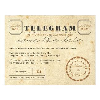 VintageTelegramspara datera Anpassade Inbjudningskort