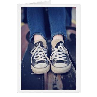 Vintagetennis bleknade Shoes Hälsningskort