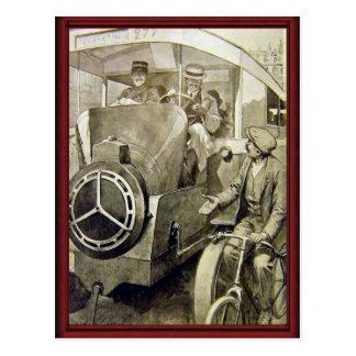 Vintagetyper av transport vykort