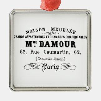 Vintagetypografidesign M'Damour Julgransprydnad Metall