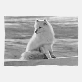 VintageUSA Alaska arktisk räv 1970 Kökshandduk