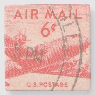 VintageUSA luft postar portofrimärket Underlägg Sten