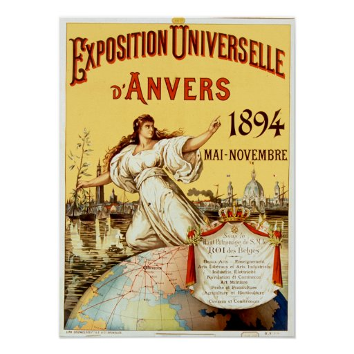 VintageutläggningUniverselle d'Anvers 1894 Poster