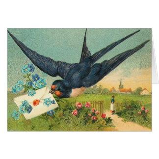 Vintagevalentin kort för dag