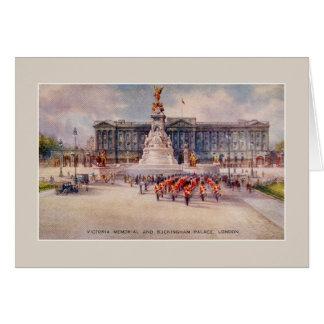 VintageVictoria minnes- Buckingham Palace konst Hälsningskort