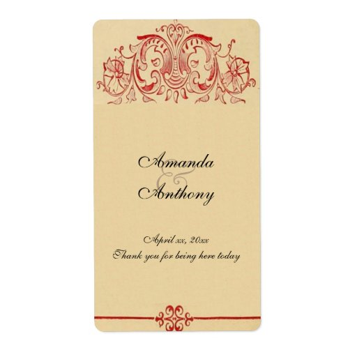VintageVictorian, barock som gifta sig vin, Fraktsedel
