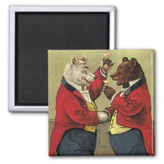 VintageVictorianlycklig, bög som dansar björnar Magnet
