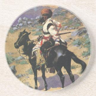 Vintagevilda western, en indisk Trapper vid Underlägg Sandsten