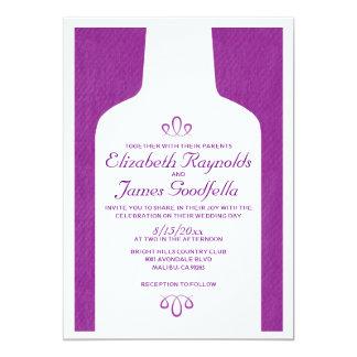 Vintagevin buteljerar bröllopinbjudningar 12,7 x 17,8 cm inbjudningskort