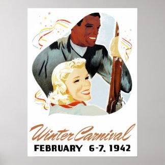 Vintagevinterkarneval Poster