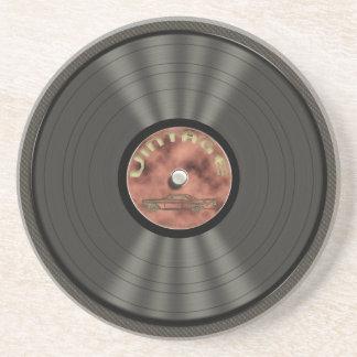 Vintagevinylrekord Underlägg För Glas
