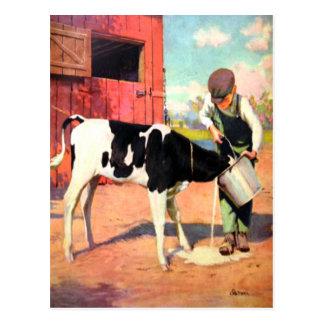 Vintagevykort från den gammala lantgården vykort