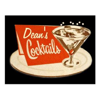 Vintagevykort - Martini exponeringsglascoctailar Vykort