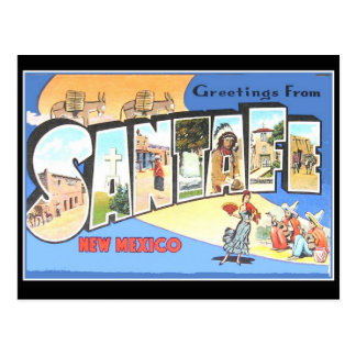 Vintagevykort Santa Fe Vykort