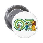 VintageWizard of Oz tecken och brev Knapp