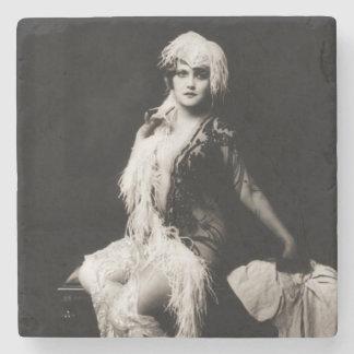 VintageZiegfeld flicka Underlägg Sten