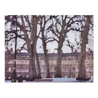 Vinter i bad vykort