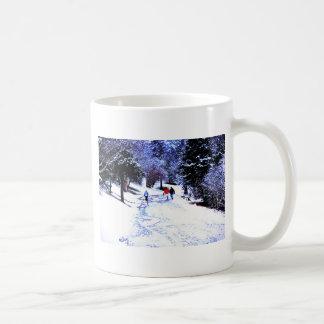 Vinter i parkera vit mugg