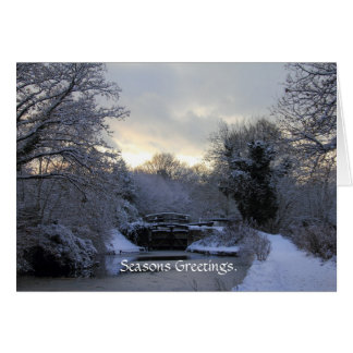 Vinter på det Basingstoke kanalkortet Hälsningskort