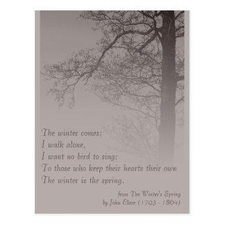 Vinter poesin för vår CC0373 Vykort