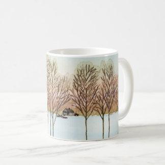 Vinter sjö kaffemugg