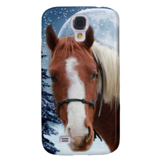 Vinteramerikanen målar hästen galaxy s4 fodral