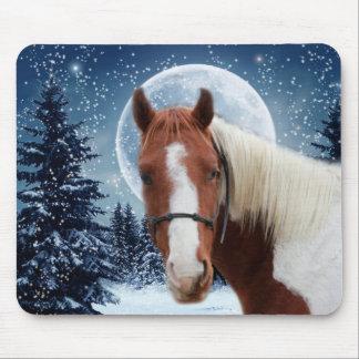 Vinteramerikanen målar hästen musmatta