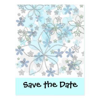 Vinterbröllop spara datum vykort