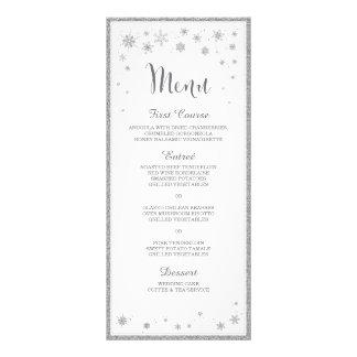 Vinterbröllopmeny/Snowflakebröllopmeny Reklamkort