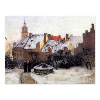 Vintereftermiddag gammala Munich vid T.C. Steele Vykort