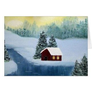 Vinterfred Julhälsningar kortet Hälsningskort