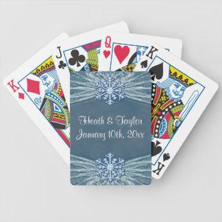 Vinterfrost & gifta sig för snöflingor spelkort