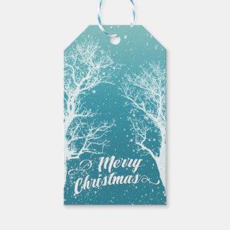 Vintergod julhelgdag presentetikett