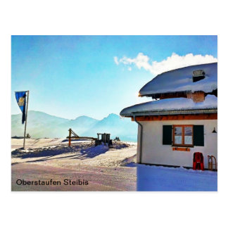Vinterkojan beskådar vykort